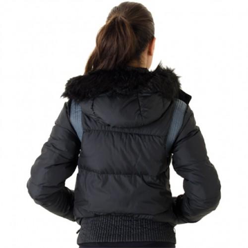 Nike Alliance Hooded Bomber 550 Jacket Women Black Grey