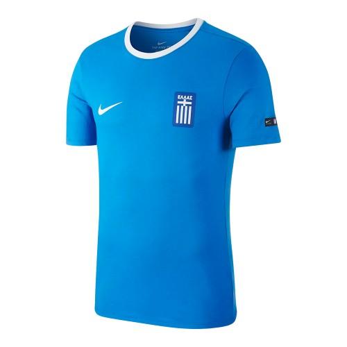 NIKE Εθνική Ελλάδας 2018/19 Crest t-shirt, μπλε -